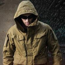 Vestes tactiques militaires M65 pour hommes veste coupe-vent imperméable manteau à capuche pour hommes vestes de pêche/Trekking de randonnée en plein air