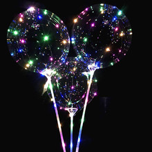 New Glowing balloons 30 stars party Luminous Led Reusable Balloon Transparent Round Bubble Decoration Party