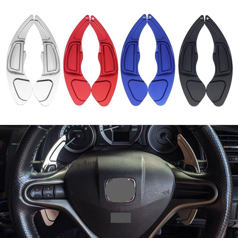 2X Автомобильный руль весло сдвиг расширение переключения алюминия для Honda City 2008 Civic Fit CR-V