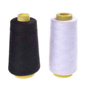 Sewing Threads Durable 3000M Yards Overlocking Sewing Machine Industrial Polyester Thread Metre Cones Black White Sew Thread image