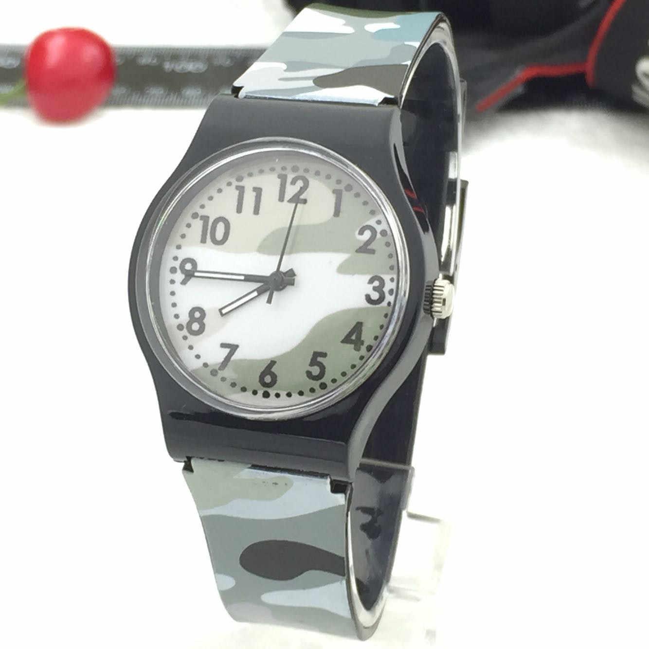 الأطفال ساعة التمويه ساعة كوارتز سيليكون باند montre enfanthorloge zegarek ليغو Reloj Infantil منتجات بالجملة # L0