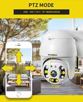 INQMEGA 1080P PTZ Dome Camera Full Color Outdoor Cloud Storage Wireless Camera IP65 Waterproof Night Vision Two way Audio