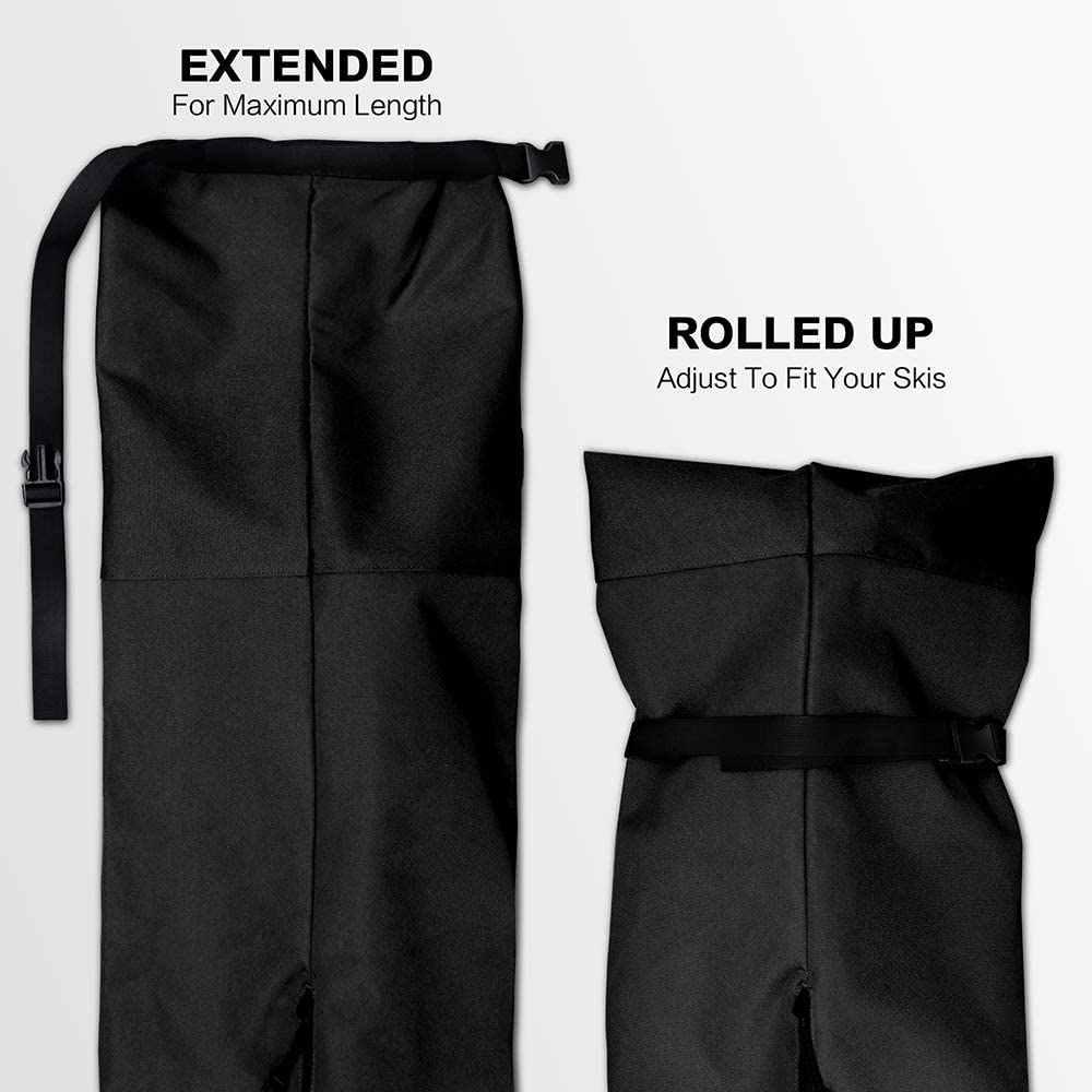 Сумка для сноуборда с регулируемой длиной до 216 см   Водонепроницаемая, эргономичная Лыжная сумка с ручками-для мужчин, женщин и молодежи-черная