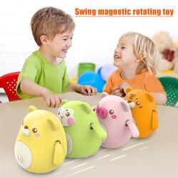 Schaukel Kinder Spielzeug 360 ° Rotation Nette Schwingen Magnetische Elektrische Walking Magnetische Spielzeug Set Geschenke Schaukel Küken Piggy Geschenk
