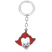 Movie Stephen King's It Keychain Pennywise Figure Pendant Key Chains for Women Men Choker Keyring Jewelry(China)