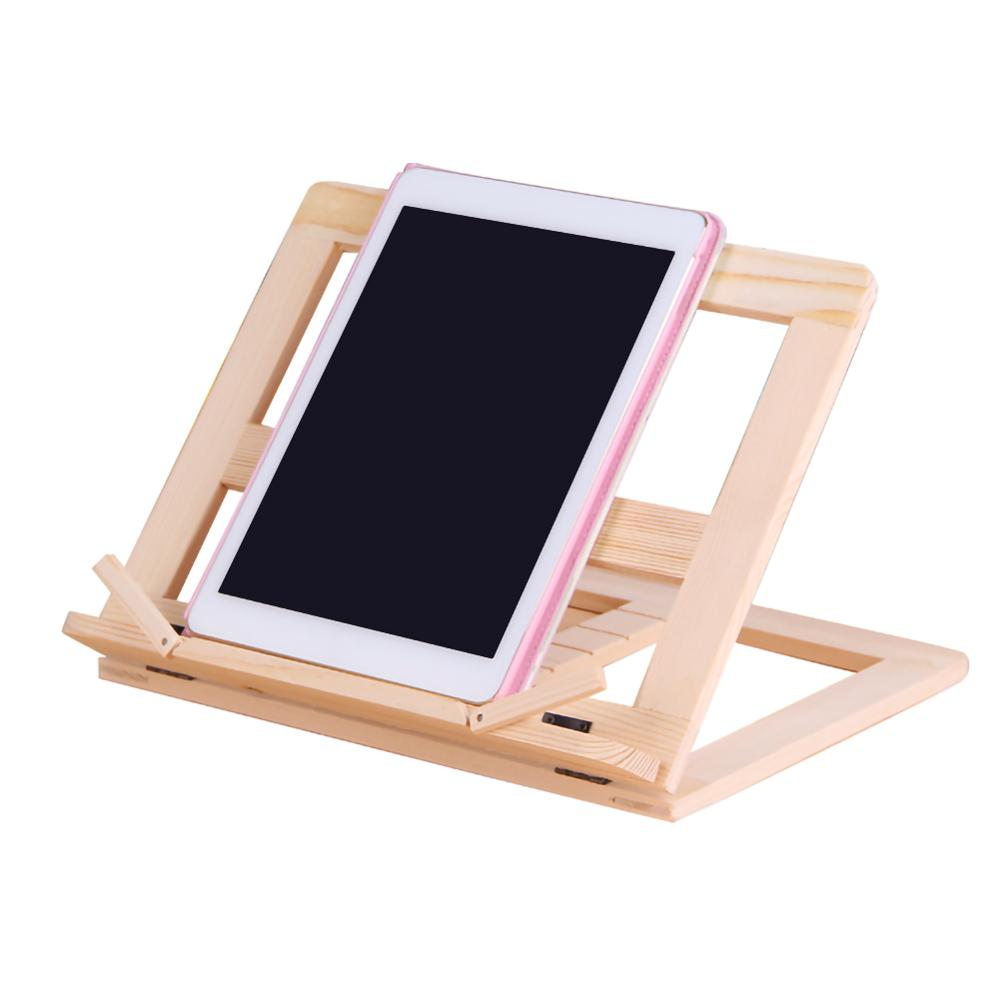 Multifunctional Wooden Recipe Frame Reading Student Reading Bookshelf and Bracket Suitable for Placing Books