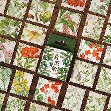 Decoration Sticker Album Package Scrapbooking XINAHER Natural Vintage Mini DIY 46pcs/Box