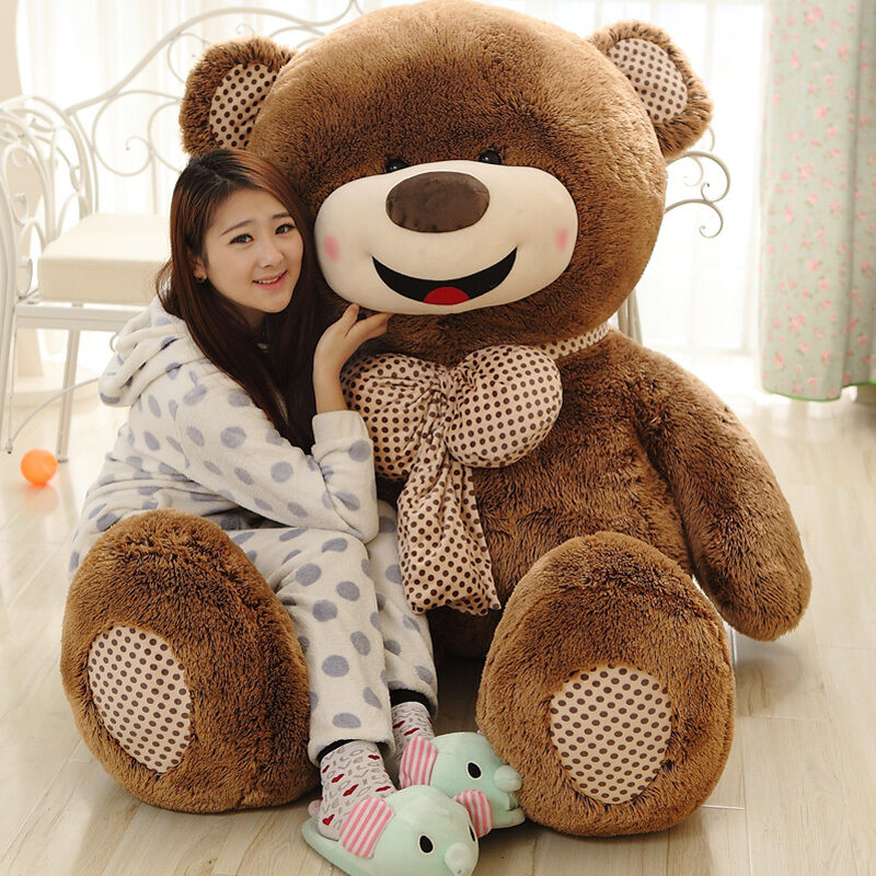 32in.80cm Giant super huge light brown teddy bear plush soft toy doll ONLY COVER