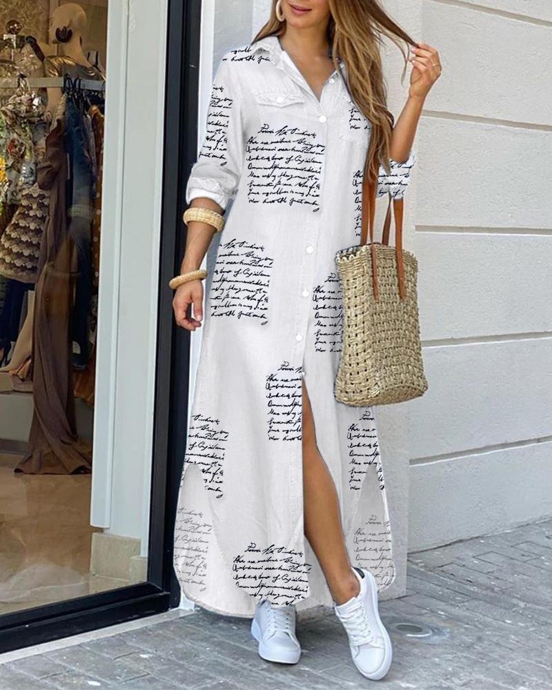 Женское платье-рубашка на пуговицах, повседневное Свободное длинное уличное платье большого размера с принтом для дома и поездок, 2021