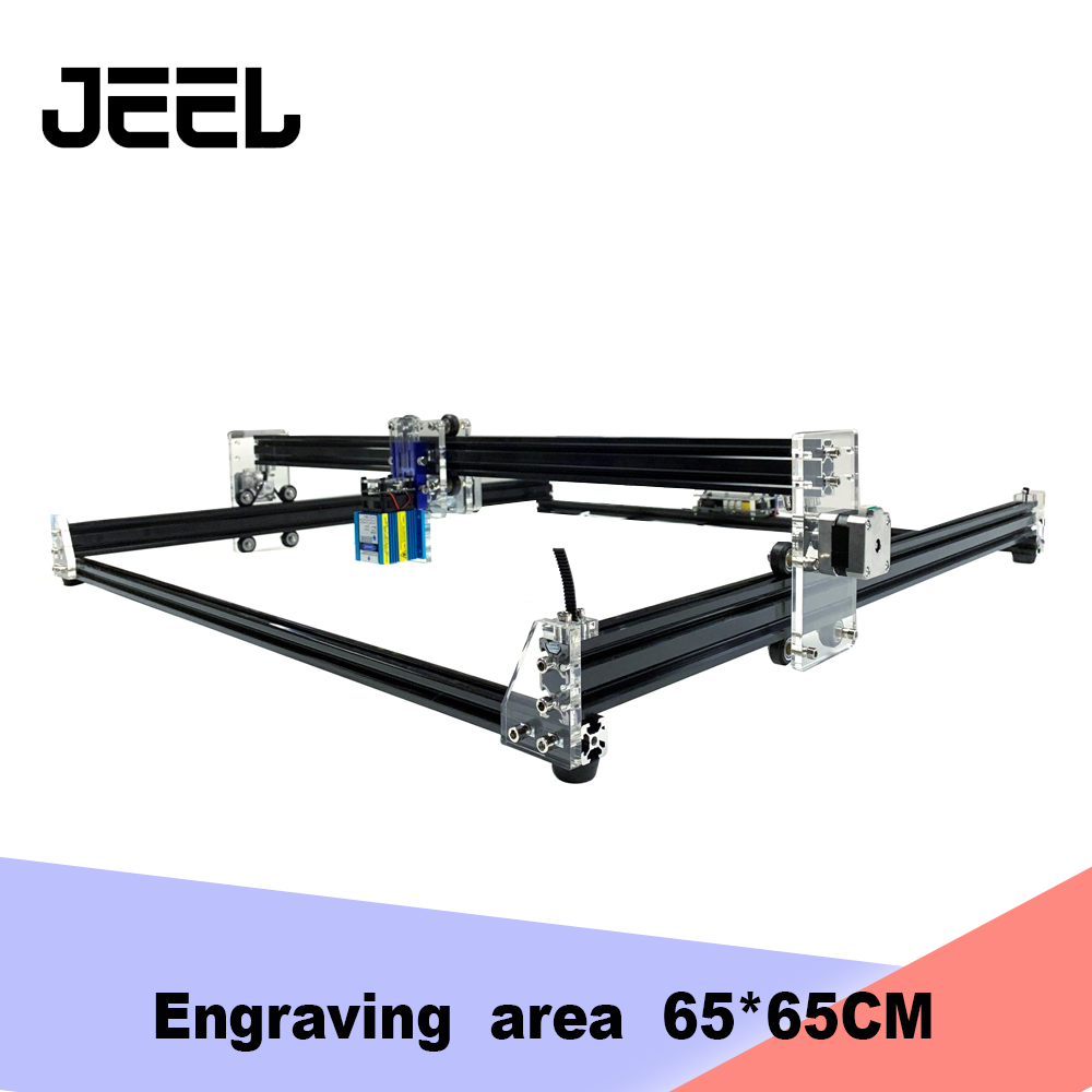 DIY 2.5W/5.5W/15W   CNC  Router  6565  Laser Engraver /Cutter ,Engraving Machine Wood   Router  15W Can Engrave Stainless Steel
