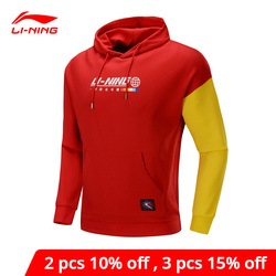 Li-Ning Männer Der Trend Pullover Lange Hülse Hoodie Regelmäßige Fit 63% Baumwolle 37% Polyester li ning Futter Sport tops AWDP613 MWW1623