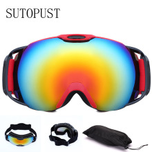 купить Double-layer Anti-fog Ski Goggles UV Protection Big Ski Eyewear Ski Snowboard UV400 Protection Skiing Glasses Adults Snow Mask онлайн