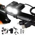 Передний фонарь для велосипеда 6000LM 2x XM-L T6  светодиодный велосипедный фонарь  велосипедный светильник фонарь с аккумулятором и зарядным уст...
