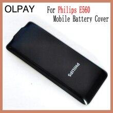 OLPAY الجديد الأصلي الإسكان لشركة فيليبس E570 CTE570 غطاء البطارية المحمول للهاتف المحمول زينيوم E570 CTE570