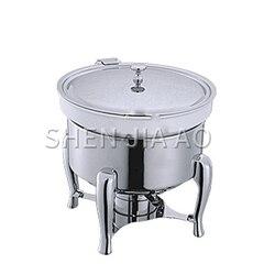 6L stal nierdzewna okrągły rondel handlowy okrągły zupa kuchenka zupa sos pojemnik na jedzenie dla stołówki restauracja hotel 1PC