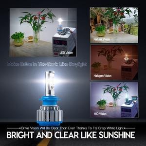 Image 4 - CNSUNNYLIGHT רכב פנס H7 H4 LED H8/H11 HB3/9005 HB4/9006 H1 H3 9012 H13 9004 9007 70W 7000lm אוטומטי הנורה פנס 6000K אור