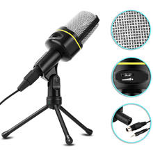 BENTOBEN 3.5mm Condenser Microphone With Tripod Stand Audio Recording Microfono For PC Smartphone Mic Streaming Youtube