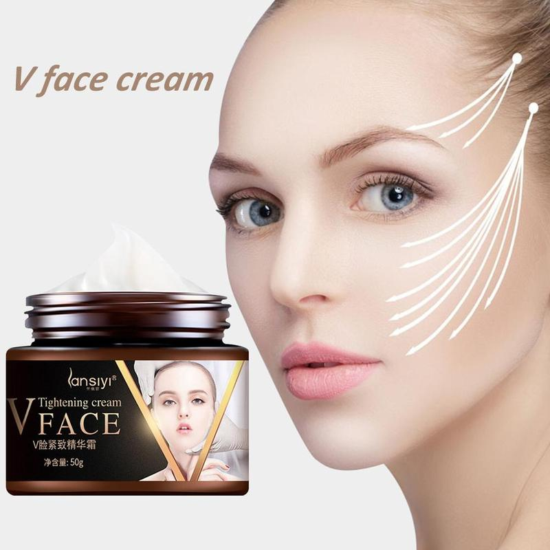 Face Lifting Cream V-shape Face Line Lift Firming Collagen Cream Burning Fat Shaping V Face Firming Skin Facial Slimming Cream