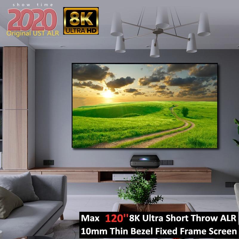 FUSTALRH-PT 100 ''120'' 16:9 UST gdc/ALR узкая рамка проекции Экран с домашним животным черного цвета с украшением в виде кристаллов для лазерный проектор Wemax...