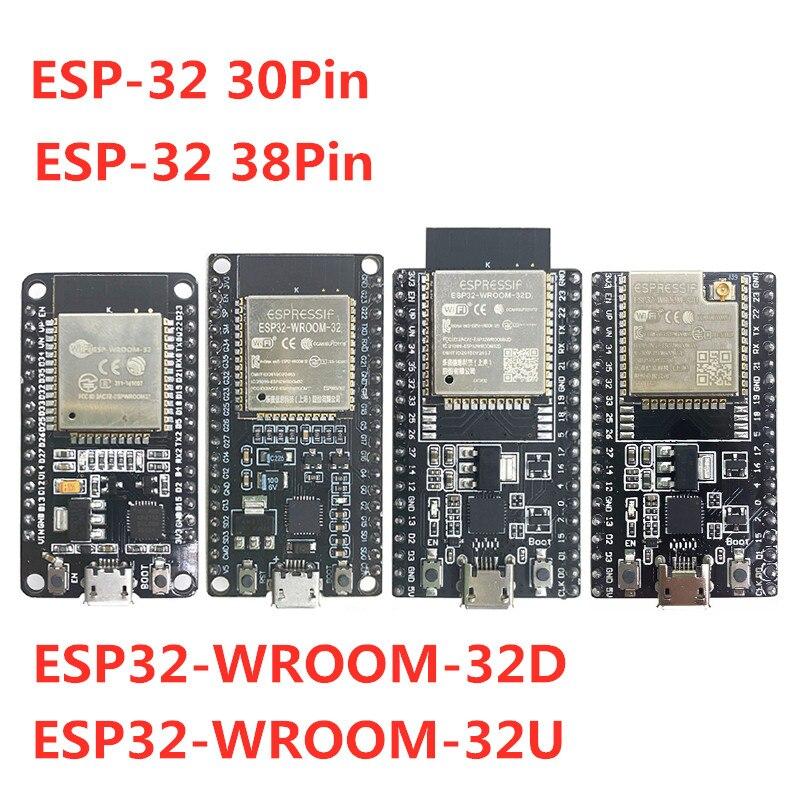 ESP32-WROOM-32U ESP32-WROOM-32D ESP32 30Pin 38Pin Bluetooth WI-FI сверхнизкой Мощность потребление двухъядерный подобные ESP8266