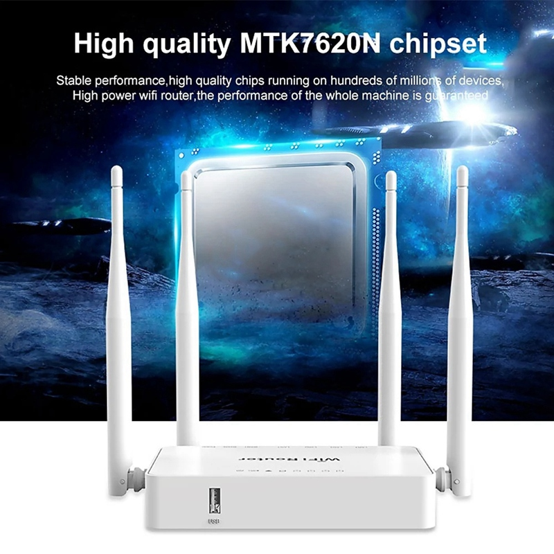WE1626 Wireless Router 2.4G 300Mbps WiFi Router 5 Ports Router With 4 External Antennas