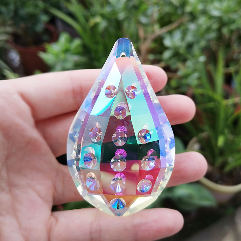 Crystal Suncatcher Hanging Pendant Chandelier Prism Beads Garland Parts Glass Sun Catcher Drops Rainbow Maker Home Wedding Decor