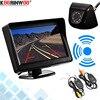 Koorinwoo 4,3 Zoll Wireless Parkplatz LCD Monitor Bildschirm Saug top Weitwinkel IR Nacht Vision IP68 Auto Rückansicht Kamera universal