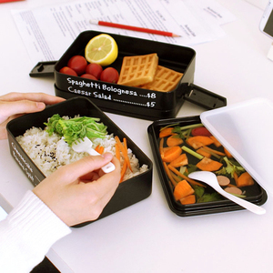 Multi-layer Kids Lunch Bag Tiffin Box For School Bento Boxes Portable Capacity Food Container Dinner Lunchbox Cutlery Healthy