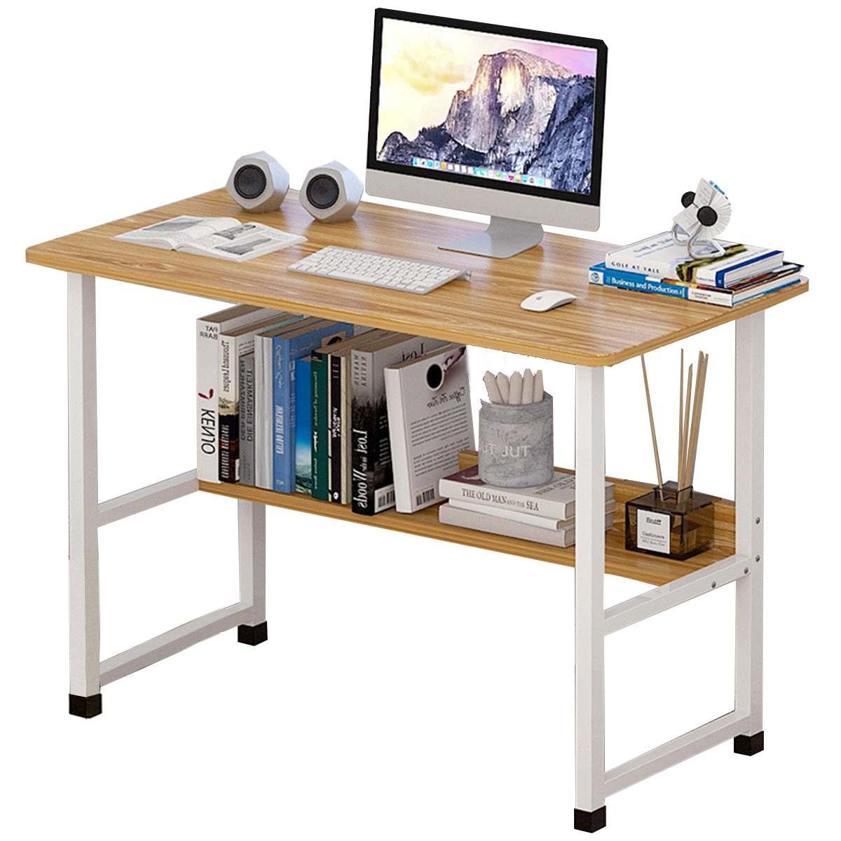 Computer Desk Laptop Desk with Shelves Home Office Computer Desk PC Gaming Table Workstation Study Writing Desk Modern