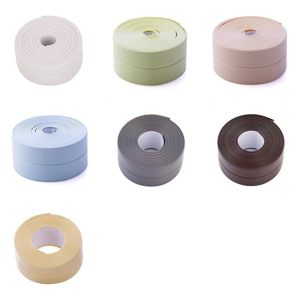 Kitchen And Bathroom Waterproof And Mildew Tape Kitchen Seam Seals Waterproof Strips Bathroom Toilet Gap Wall Stickers