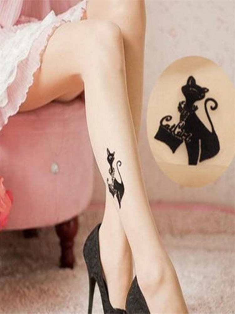 sizes S-XL Tattoo TightsPantyhose with Dripping Paint Butterfly