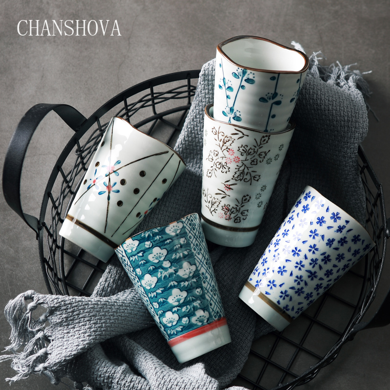 CHANSHOVA High Capacity 250ml Traditional Chinese Style Handpainted Ceramic Teacup China Porcelain Large Coffee Tea Cups H273|Teacups| - AliExpress