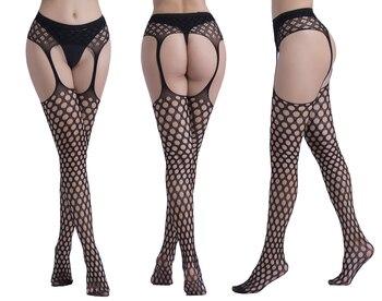 Frauen Sexy Strümpfe Dessous Strumpfhosen mit Strumpfband Netz Dessous 1