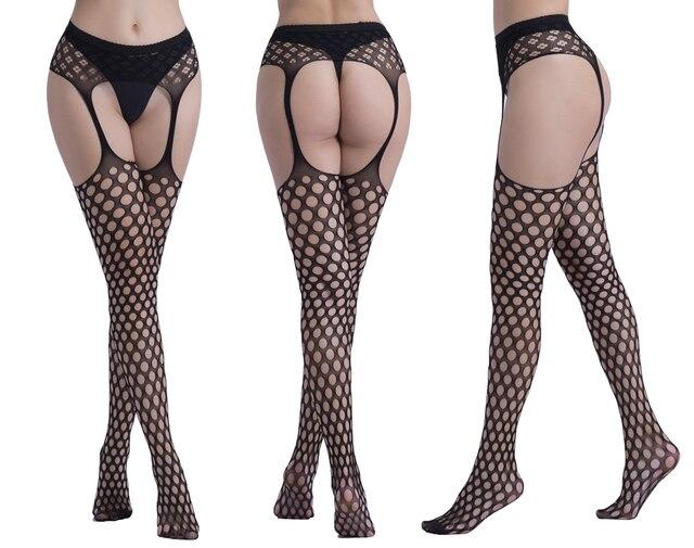 Frauen Sexy Strümpfe Dessous Strumpfhosen mit Strumpfband Netz Dessous