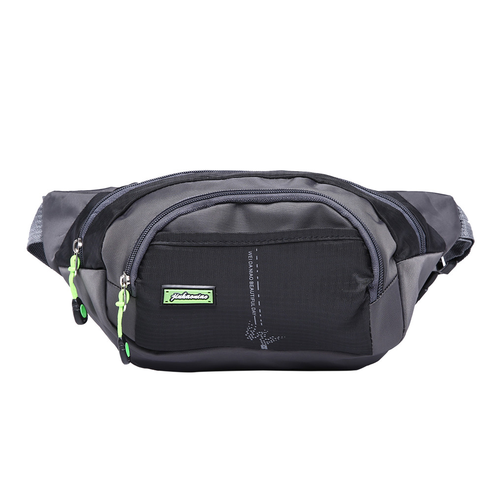 Unisex Sports Canvas Waist Bag Fanny Casual Chest Packs For Men Portable Travel Shoulder Crossbody Bags Bolsas Feminina