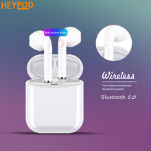 HEYPOD TWS Wireless Bluetooth Earphone For iPhone 8 Mini Earbuds Sport Wireless Headphones With Mic Headset For Huawei Xiaomi mi original remax s8 wireless bluetooth earphone for iphone 7 xiaomi mi 5 wireless earpod sport stereo earbuds with mic auriculares
