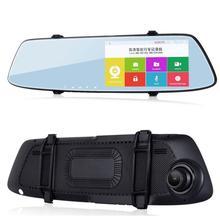 Car Camera DVR GPS Bluetooth Dual Lens Rearview Mirror Video Recorder Full HD 1080P Vehicle DVR Mirror Dash Cam upgrade 5 android car camera gps navigation wifi rearview mirror car dvr full hd 1080p dual lens parking auto video recorder