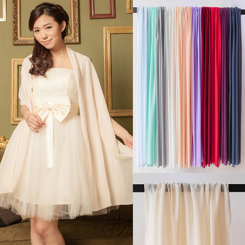 Chiffon Long Colorful Wedding Wrap Bridal Wedding Accessories Wedding Jacket <font><b>70*150</b></font> cm image