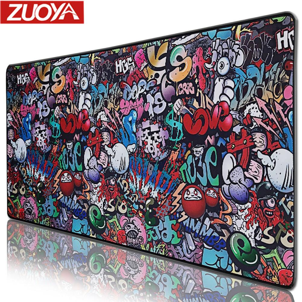 ZUOYA Extra Large Mouse Pad Old World Map Gaming Mousepad Anti-slip Natural Rubber With Locking Edge Gaming Mouse Mat