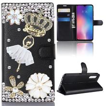 3D lustro skórzane etui na Samsung Galaxy A51 A71 A30S A50 A40 A20e M30s S8 S9 S10 S20 Plus Ultra LTE odwróć stań pokrywy telefonu tanie tanio Zookkbb CN (pochodzenie) Portfel Przypadku Fashion Colorful Book Style Full Protective Mobile Phone Cases Galaxy S9 Plus