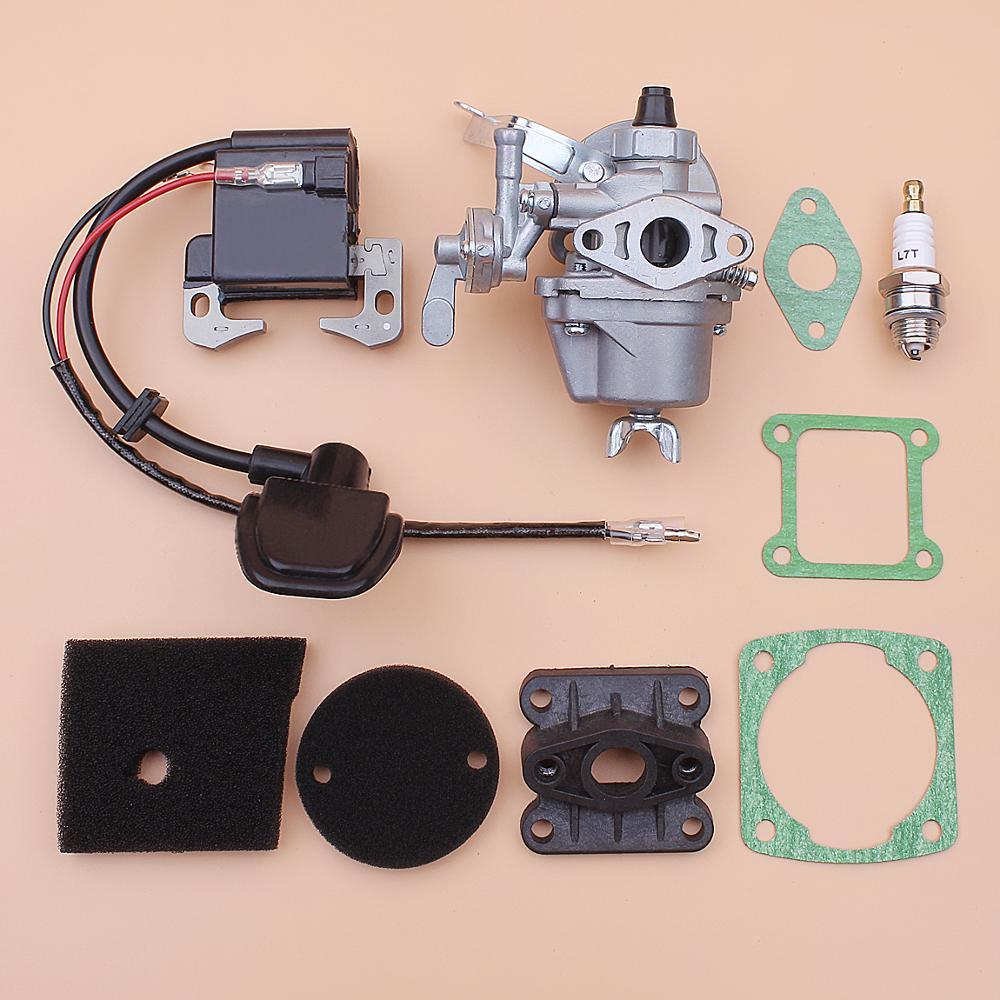 Carburetor Ignition Coil For Robin NB411 BG411 CG411 Air Filter Element Intake Manifold Gasket Set Trimmer