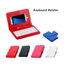 Проводная клавиатура чехол-книжка чехол для Andriod мобильный телефон 4,2 ''-6,8'' 20A Прямая доставка
