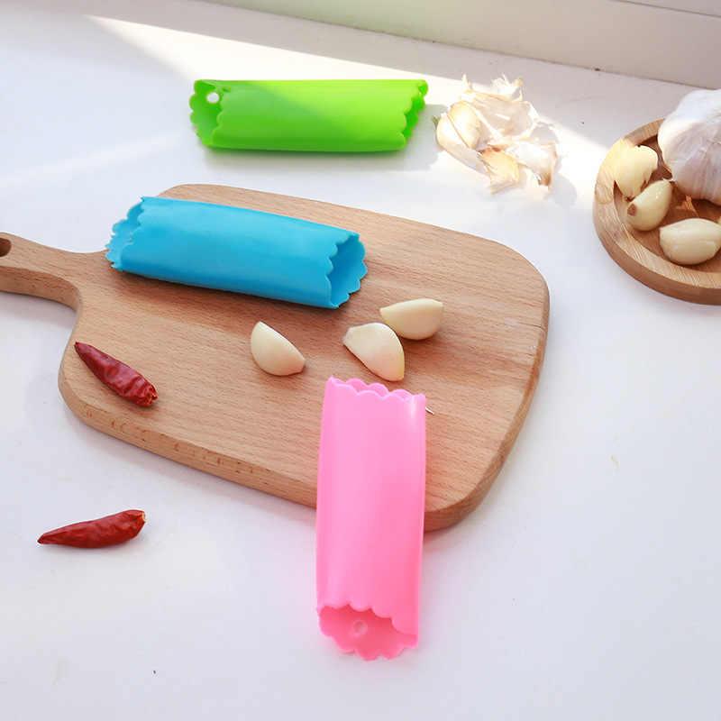 Silicone alho descascador alho rolo stripper tubo não-tóxico segurança cozinha gadgets ferramenta cor aleatória