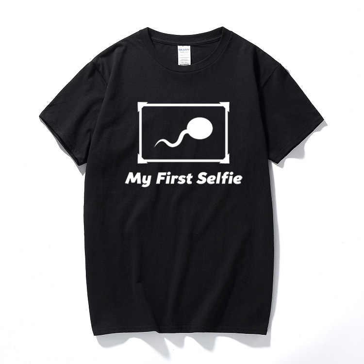 My First Selfie/хлопковая футболка с короткими рукавами и круглым вырезом, забавный подарок на день рождения для мужчин, бойфренда, брата, лучшего друга