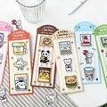 12 pçs/lote papelaria lanche loja série pegajosa n vezes adesivos memo pad papel