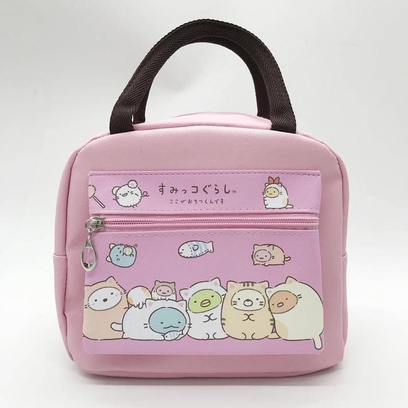 Cartoon Sumikko Gurashi Little  toy Kawaii Insulated Lunch Bag Girls Kids PU Waterproof Picnic Food Tote Handbag