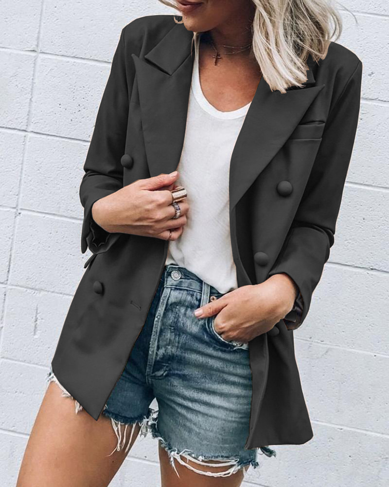 Women 2020 Women Fashion Spring Autumn Casual Blazers Female Office Lady Suit Slim Fit Button Business With Cutout Blazer Coat