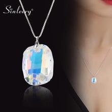 SINLEERY великолепный дизайн, Большое Квадратное хрустальное ожерелье для женщин, роскошные аксессуары из искусственных кристаллов, ювелирные изделия XL072 SSH