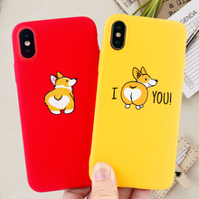 Fashion Phone Cases for IPhone 11 8 7 6s Plus Pro X XS MAX XR Case Funny Corgi Dog Soft Silicone Fitted Covers Accessories