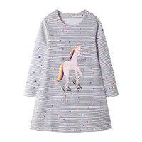 Unicorn Dress Toddler Girl Dresses Autumn Winter Cotton Costume Baby Girls Clothes Autumn Winter Kids Princess Dress Vestidos